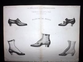 Le Moniteur de la Cordonnerie 1887 Rare Antique Shoe Design Print 11